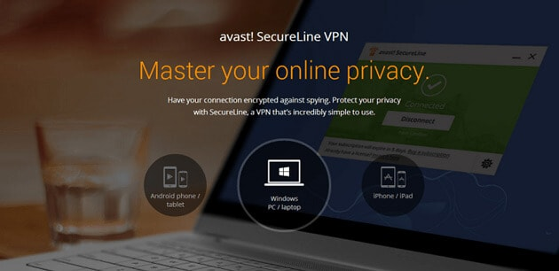 Avast Secureline VPN for privacy