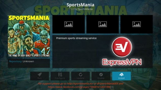 SportsMania and ExpressVPN