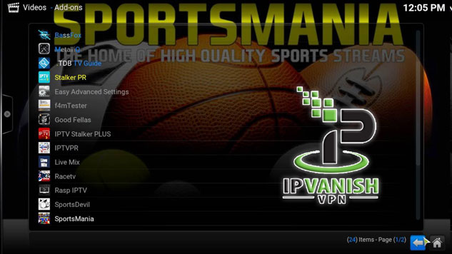 SportsMania and IPVanish VPN