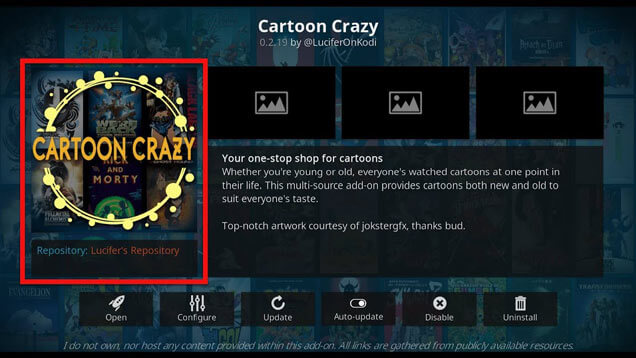 Installing Cartoon Crazy on Kodi