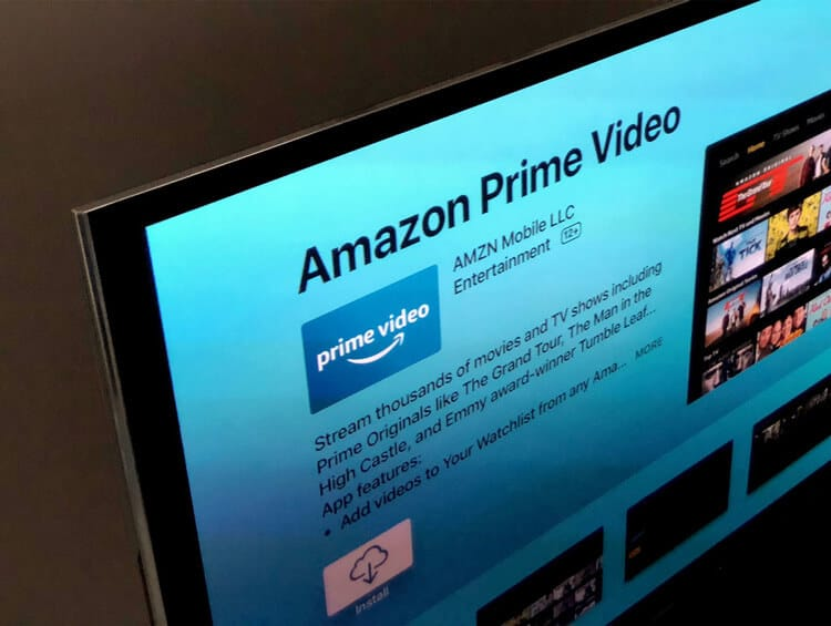 Amazon Prime streaming website